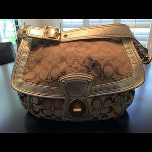 Signature Coach shoulder bag with gold trim